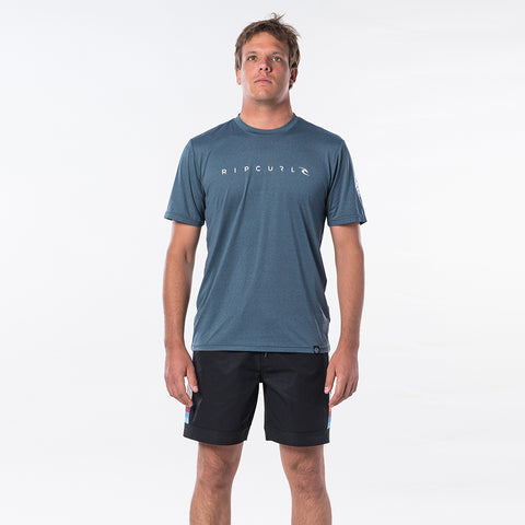 Rip Curl Dawn Patrol Short Sleeved Surf Tee - Navy Marle