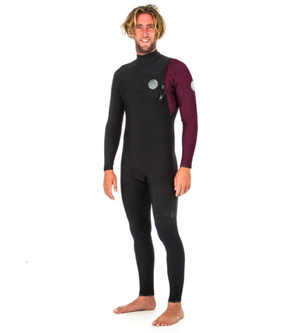Rip Curl E Bomb Pro 3/2 Zip Free Full Wetsuit - Maroon