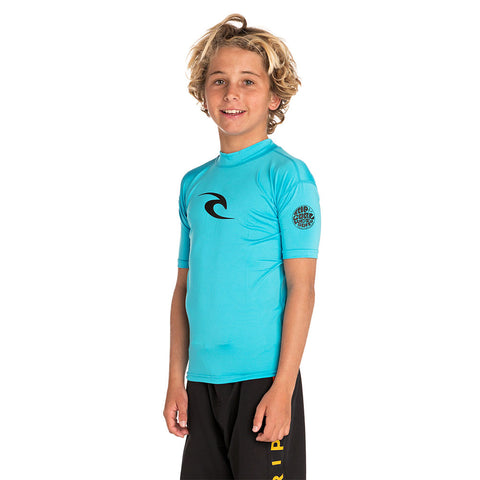 Rip Curl Junior Corpo Short Sleeved UV Tee - Blue