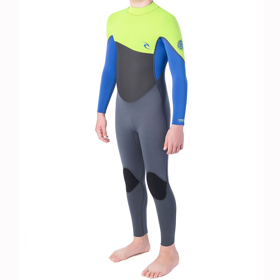 Rip Curl Junior Omega 5/3mm Back Zip Full Wetsuit  - Lime