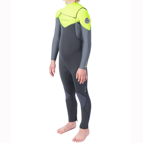 Rip Curl Junior Dawn Patrol 5/3mm Chest Zip Full Wetsuit - Lime