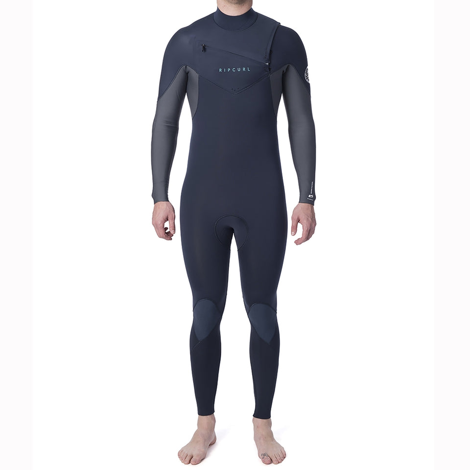 Rip Curl Dawn Patrol 5/3mm Chest Zip Full Wetsuit  - Slate