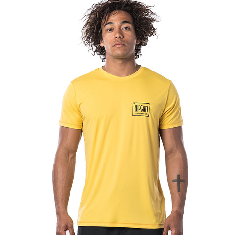 Rip Curl Native Short Sleeved UV Tee - Yellow