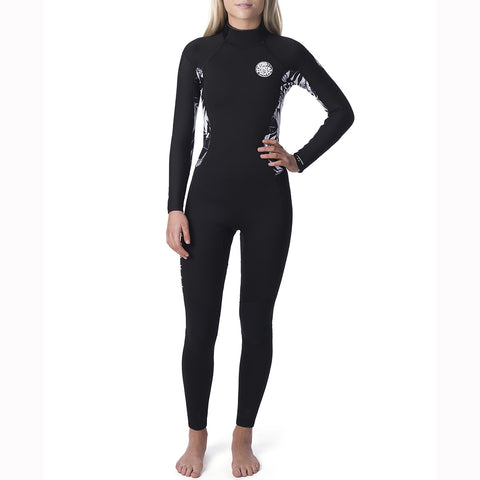 Rip Curl Womens Dawn Patrol 5/3mm Back Zip Full Wetsuit - Black