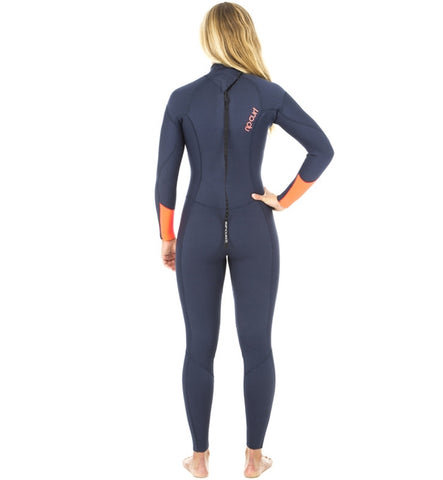 Rip Curl Womens Dawn Patrol 4/3 GB Back Zip Full Wetsuit Navy