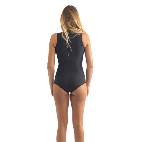 Rip Curl Womens GBomb Sleeveless 1mm FZ Shortie Wetsuit - Black