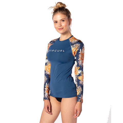 Rip Curl Womens Sunsetter Relaxed Long Sleeved UV Tee - Navy