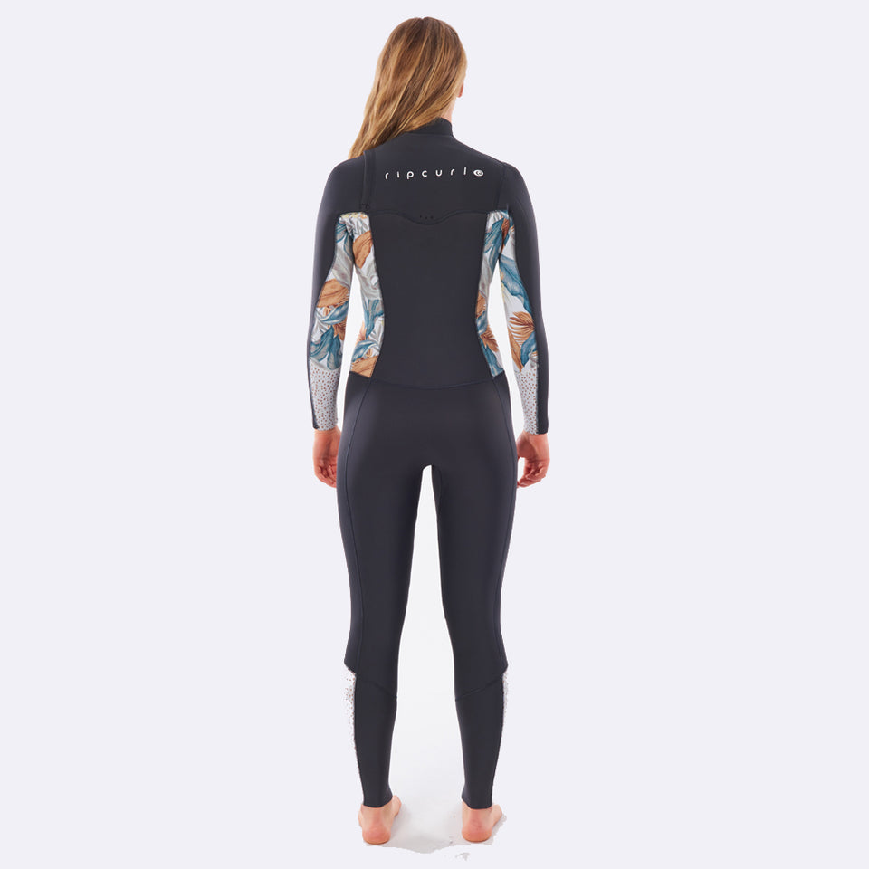 Rip Curl Womens Dawn Patrol 5/3mm Chest Zip Wetsuit  - Charcoal