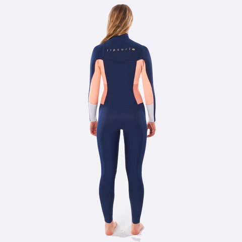 Rip Curl Womens Dawn Patrol 5/3mm Chest Zip Winter Wetsuit - Navy