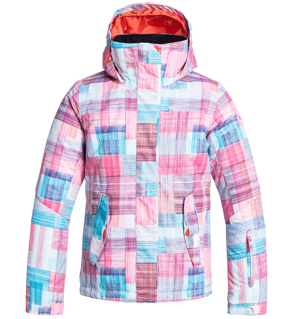 Roxy Jetty Plaid Ski Snowboard Jacket