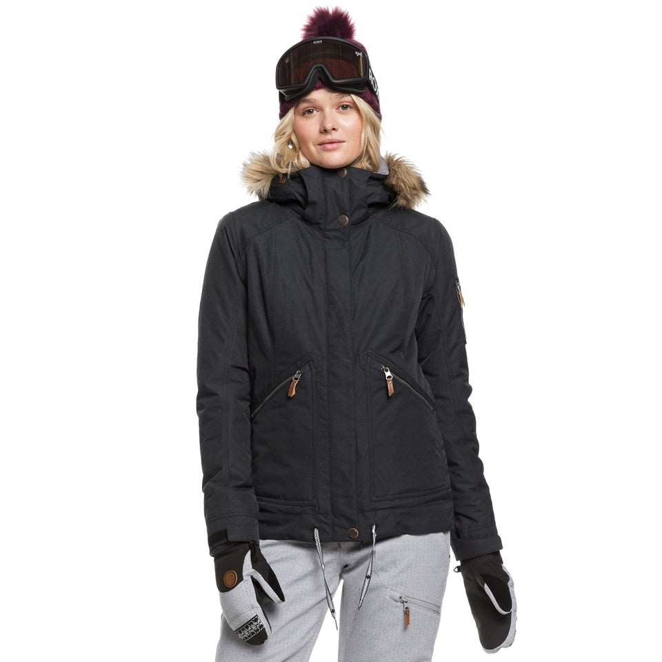 Roxy Meade Snowboard/Ski Jacket - True Black