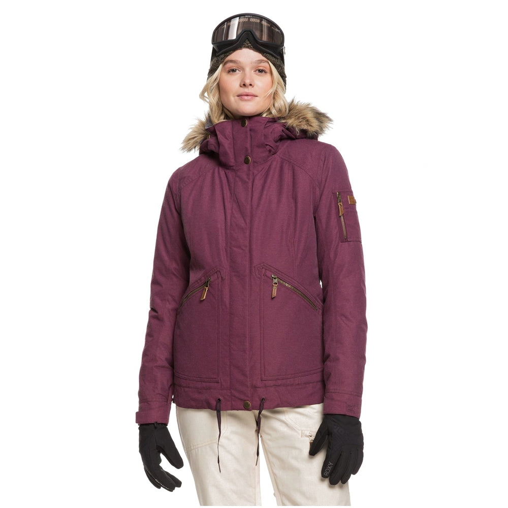 Roxy Meade Snowboard/Ski Jacket - Grape Wine