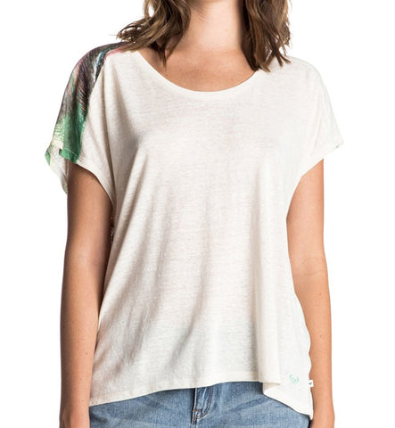 Roxy Fashion Dolman Palm Sundays T-Shirt - Sand