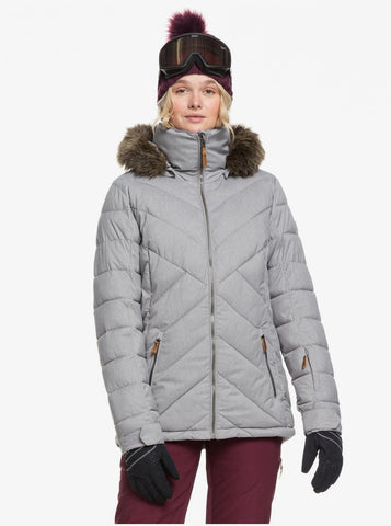 Roxy Quinn Snowboard/Ski Jacket - Heather Grey
