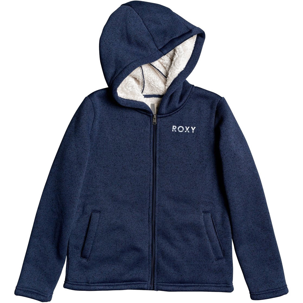 Roxy Girls Super Cosy RG Zipped Sherpa Lined Hoodie