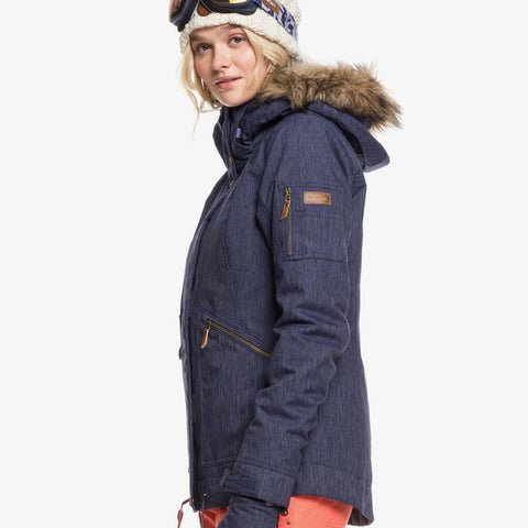 Roxy Meade Denim Snowboard/Ski Jacket - Mid Denim