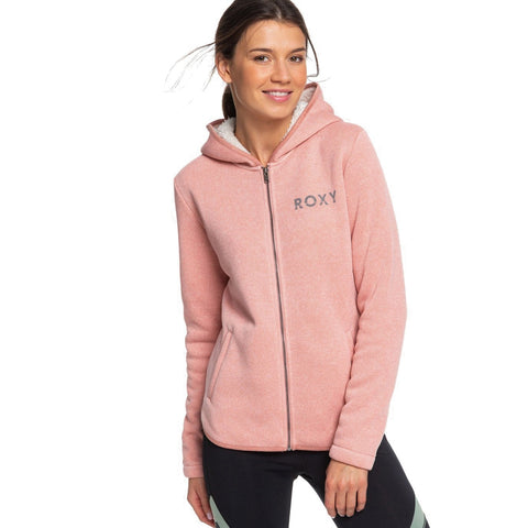 Roxy Slopes Fever A Sherpa Lined Zipped Hoodie