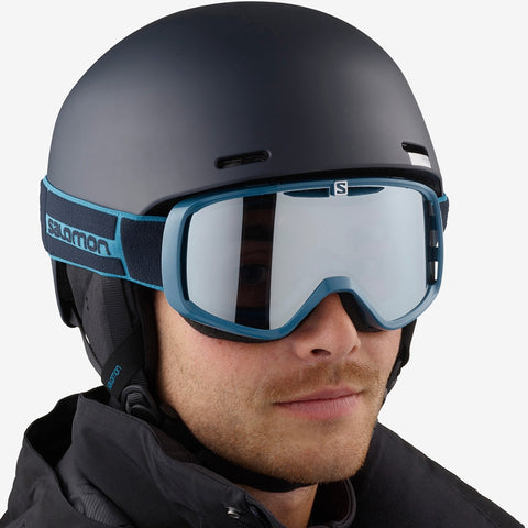 Salomon Aksium Snowboard/Ski Goggles - Navy Blue/Super White