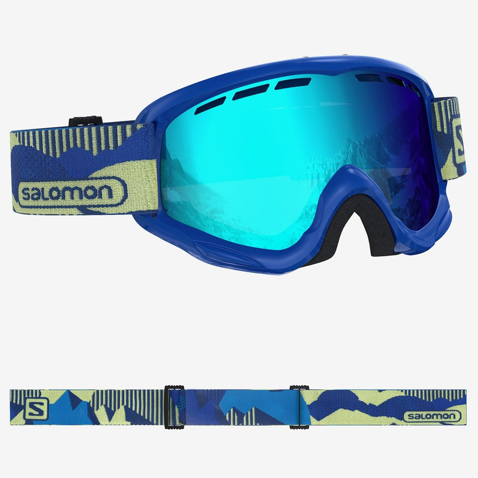Salomon Junior Juke Snowboard/Ski Goggles - Blue Pop/Mid Blue