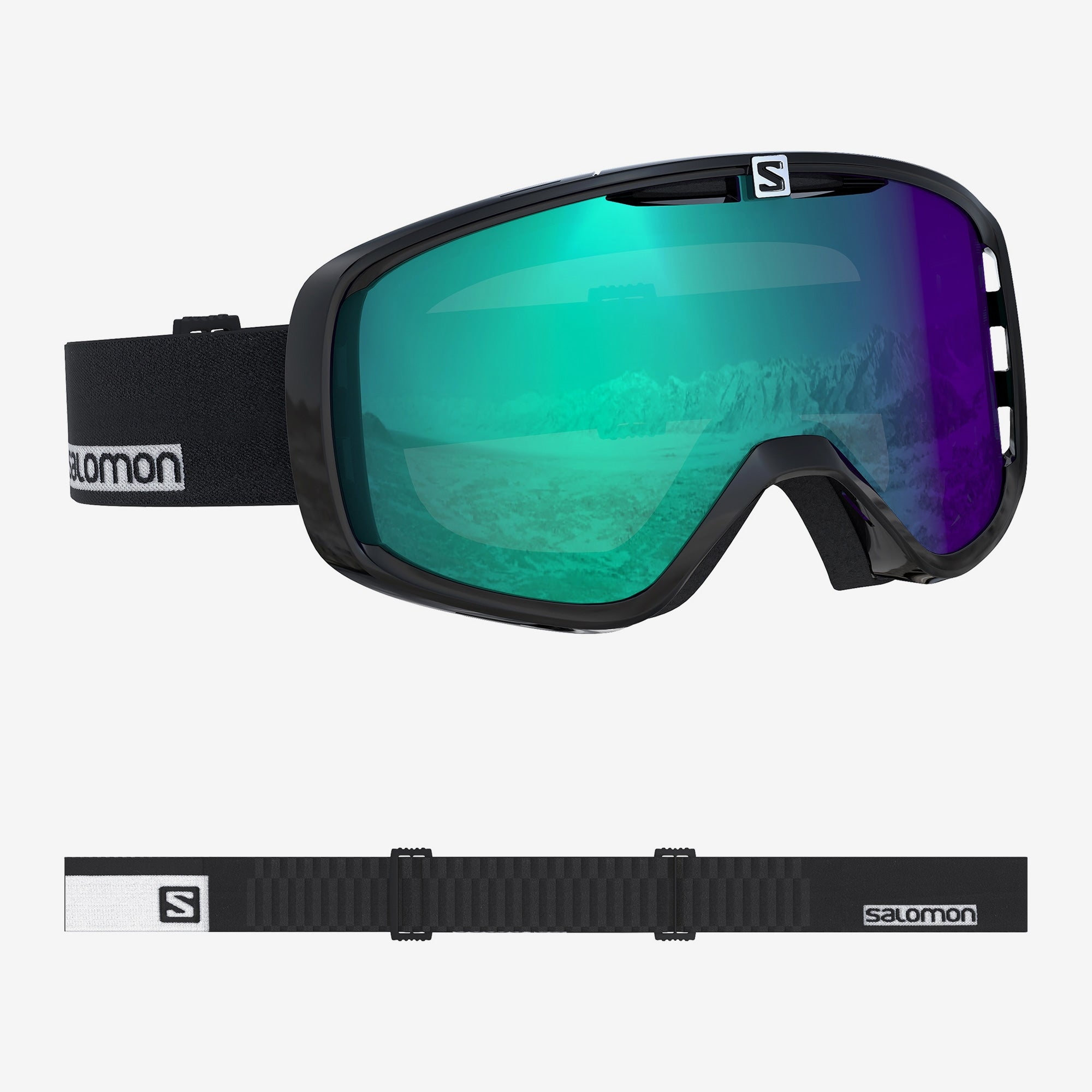 Salomon Photo XF Snowboard/Ski Goggles - Black/AW Blue