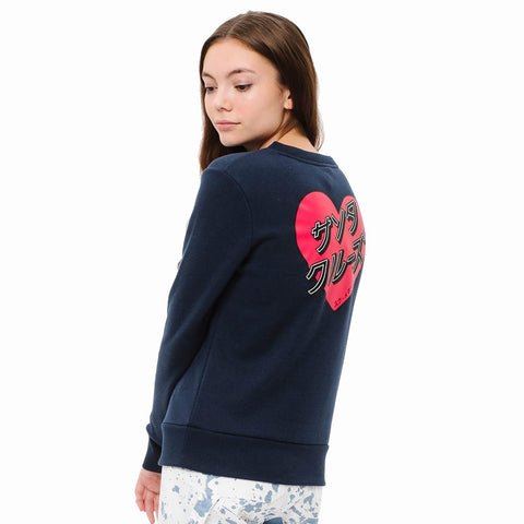Santa Cruz Womens Japanese Heart Crew Sweatshirt