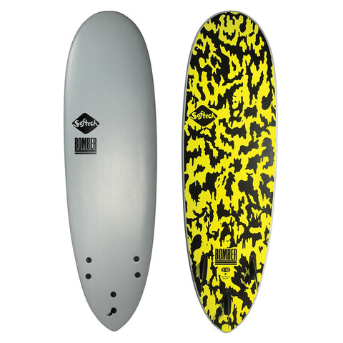 Softtech Bomber II 5'10 Surfboard - Grey/Acid
