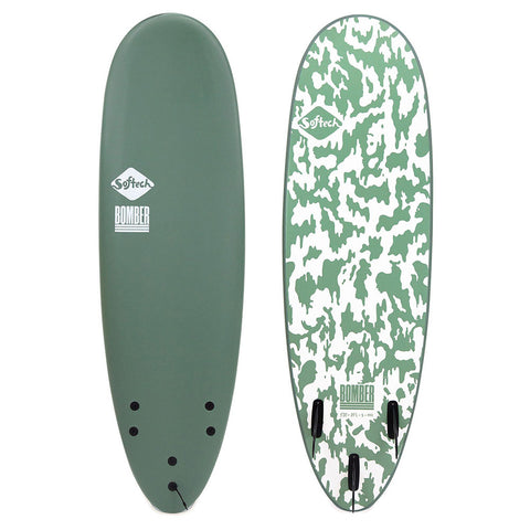 Softtech Bomber II 5'10 Surfboard - Smoke Green/White