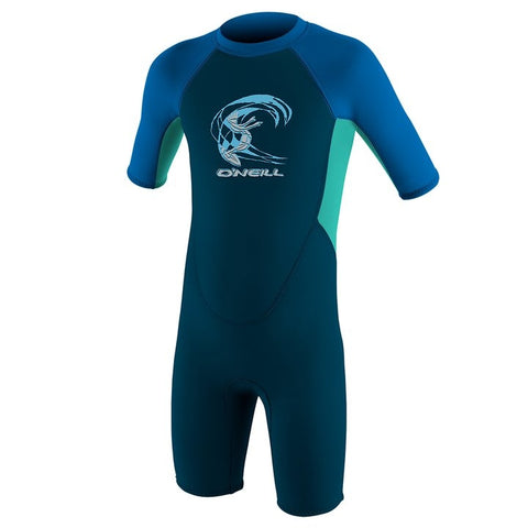 O'Neill Toddler Boys Reactor 2 2mm BZ Shortie Wetsuit - Slate/Li