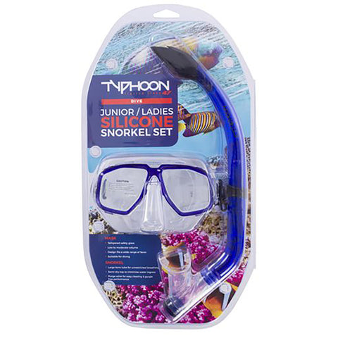 Typhoon TM4 Kids Silicone Snorkelling Set