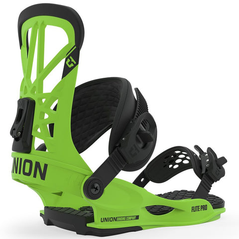 Union Flite Pro Snowboard Bindings - Acid Green