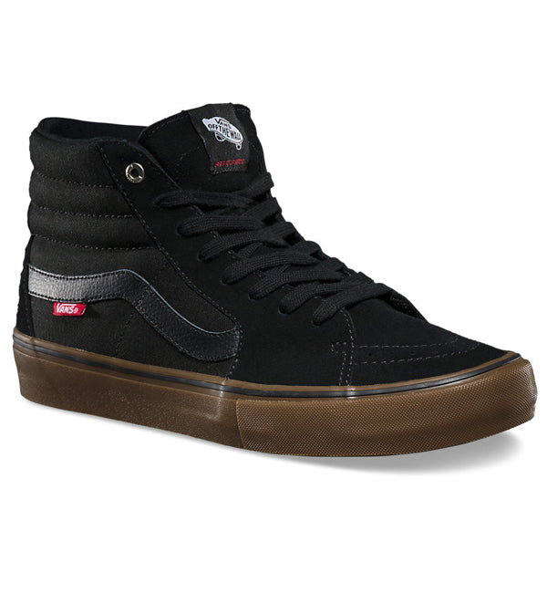 Vans Sk8 Hi Black Gum Pro Skate Shoes