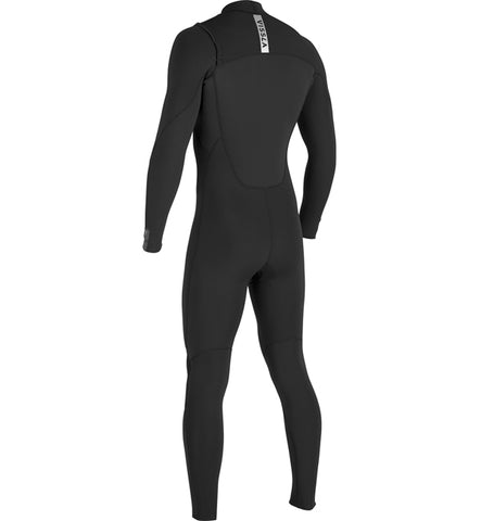 Vissla 7 Seas Power Seam 4/3 Chest Zip Full Wetsuit - Black
