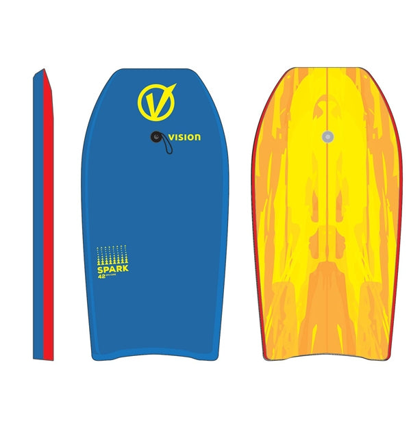 "Vision Spark Slick Base 40"" Bodyboard"