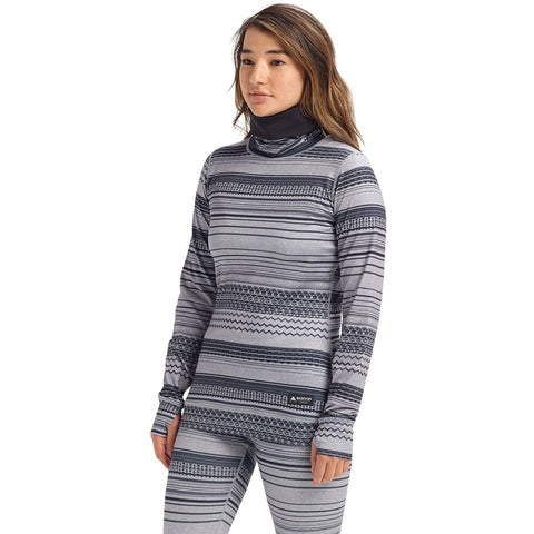 Burton Womens Midweight Long Neck Base Layer Top