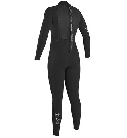 O'Neill Womens Epic 4/3 Back Zip Full Wetsuit - Black/Black/Blac