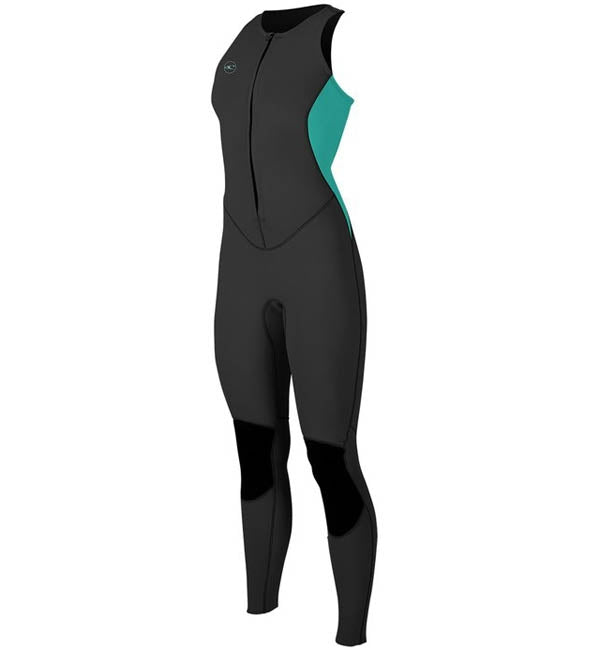 O'Neill Womens Reactor 2 1.5mm Sleeveless Full Wetsuit-Black/Aqua