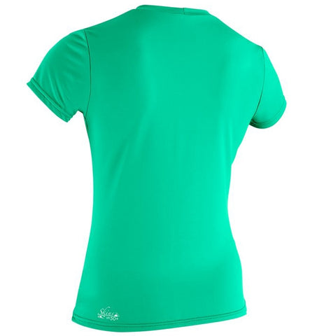 O'Neill Womens Basic Skins Short Sleeved Sun Shirt - Seaglass