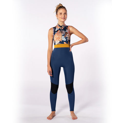 Rip Curl Womens GBomb 1.5mm FZ Sleeveless Long Jane Wetsuit-Navy
