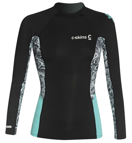 C-Skins Womens Long Sleeved Solace Crew Neck Rash Vest