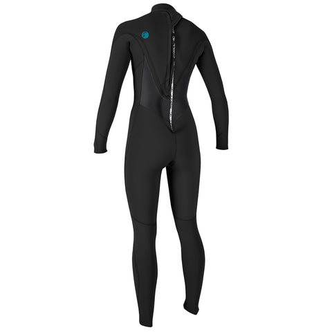 O'Neill Womens O'Riginal 4/3mm Back Zip Full Wetsuit - Black/Bla