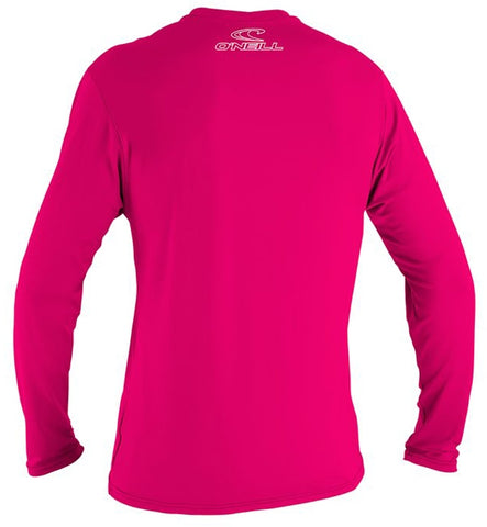 O'Neill Youth Basic Skins Long Sleeved Sun Shirt - Watermelon