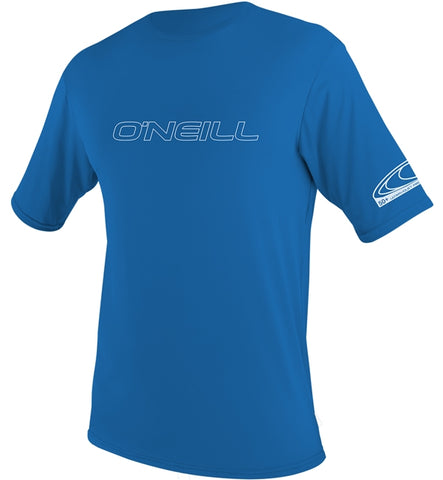 O'Neill Youth Basic Skins Short Sleeved Sun Shirt - Brite Blue