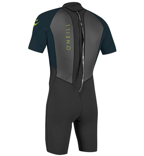 O'Neill Youth Reactor 2 2mm Back Zip Shortie Wetsuit - Black/Sla