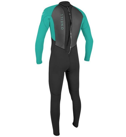 O'Neill Youth Reactor 2 3/2 Back Zip Full Wetsuit  - Black/Light