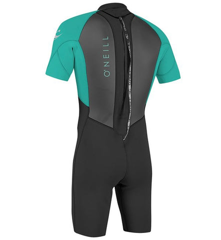O'Neill Youth Reactor 2 2mm Back Zip Shortie Wetsuit - Black/Lig