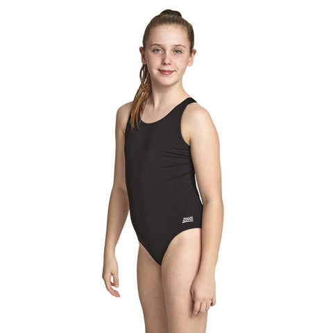 Zoggs Cottesloe Sports Back Junior Swimsuit Black