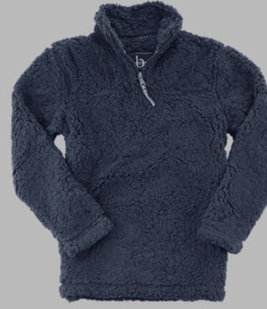 Navy 1/4 zip Sherpa