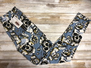 Leggings Rose Skull (Buttery Soft)