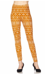 Leggings Golden Snowflakes (Buttery Soft)