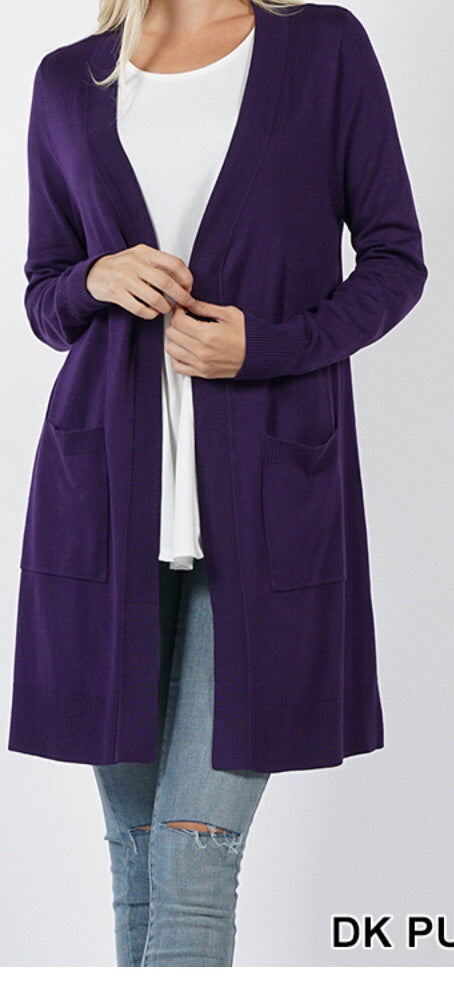 Dark Purple Cardigan